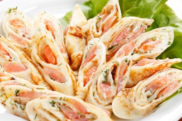 Рецепт                  Масленица 2015: Блины с лососем и сливочным сыром