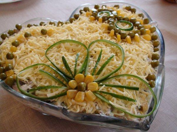Рецепт                  Салат 8 марта