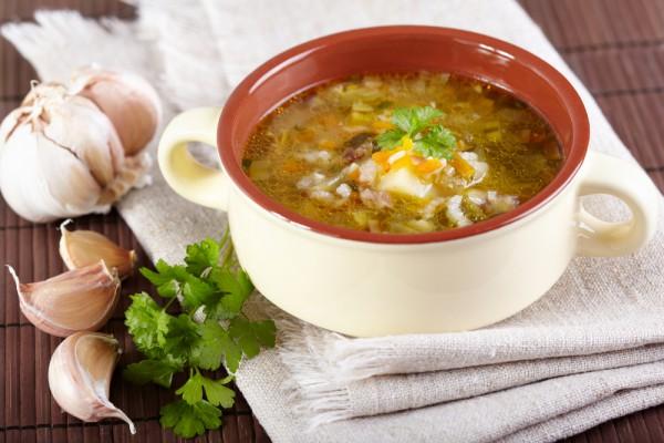 Рецепт                  Рассольник с говядиной и рисом