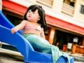 Пухлощекая русалка: полугодовалая малышка стала героиней соцсетей