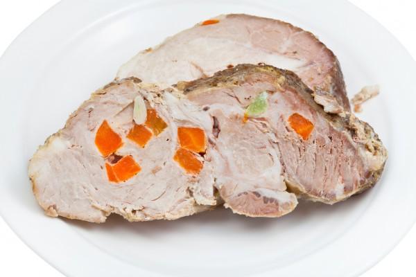 Рецепт                  Запеченная свинина с морковью