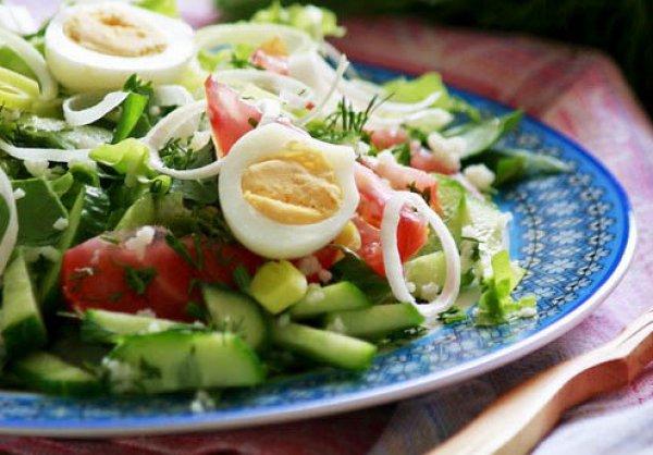 Рецепт                  Овощной салат со щавелем