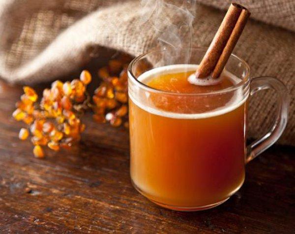 Рецепт                  Горячий сидр с апельсином и корицей