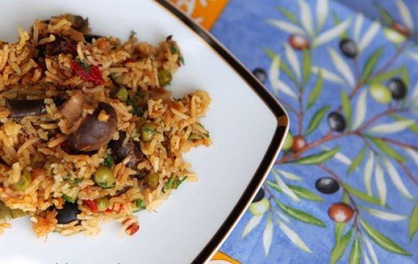 Рецепт                  Постный овощной плов с маслинами