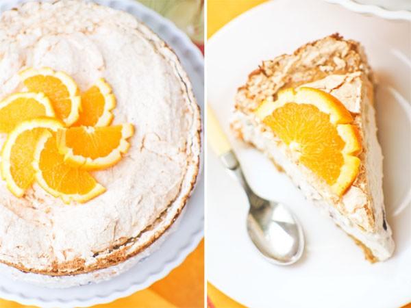 Рецепт                  Творожный торт с безе и фруктами
