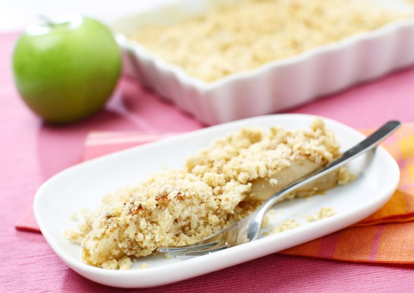Рецепт                  Яблочный крамбль на завтрак