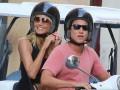 Хайди Клум прокатилась на мотоцикле с возлюбленным в Риме
