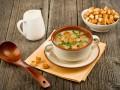 Крем-суп из шампиньонов с чесночными гренками