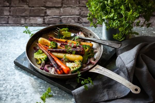 Рецепт                  Жареные овощи с ароматом базилика