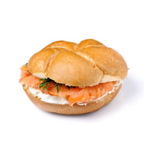 Рецепт                  Сэндвич с копченым лососем