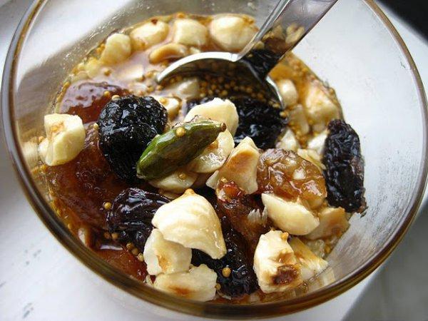 Рецепт                  Витаминный десерт из сухофруктов