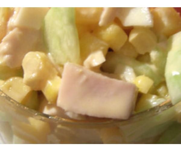 Рецепт                  Куриный салат с манго