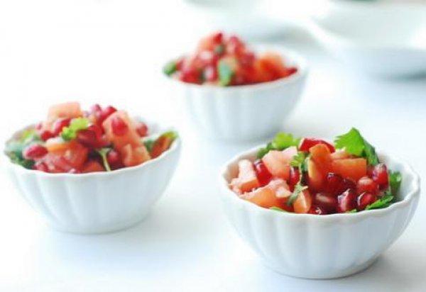 Рецепт                  Салат из помидоров и граната