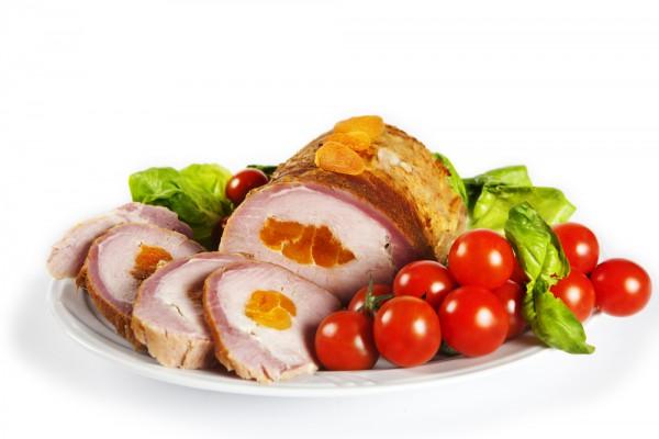 Рецепт                  Запеченное мясо с курагой
