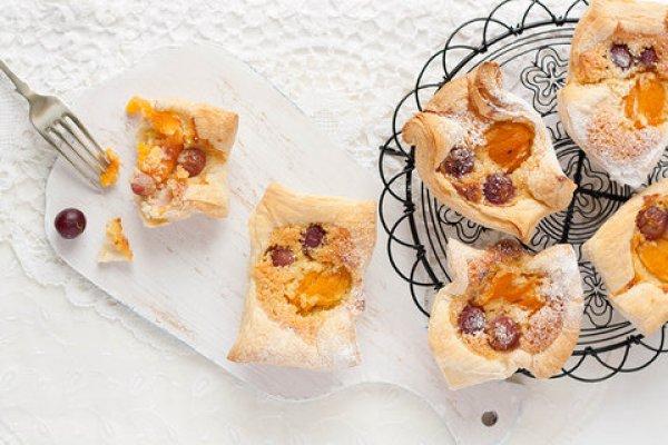 Рецепт                  Корзиночки из слоеного теста с фруктами