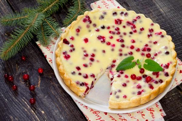 Клюквенный пирог на Новый год