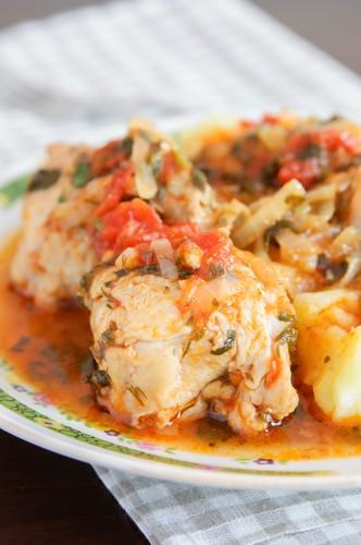 Рецепт                  Чахохбили из курицы в мультиварке