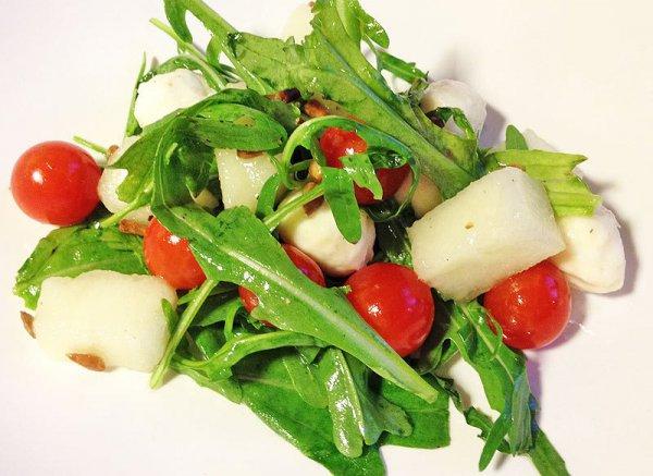 Рецепт                  Салат из дыни и рукколы