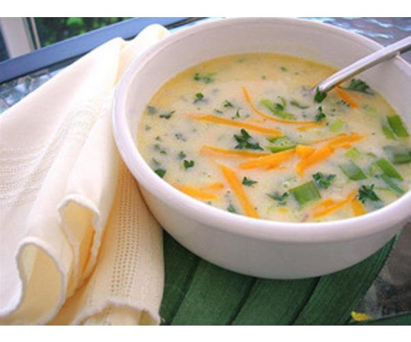 Рецепт                  Сырный суп с морковью