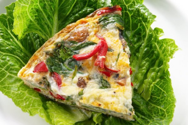 Рецепт                  Фриттата с беконом и шпинатом