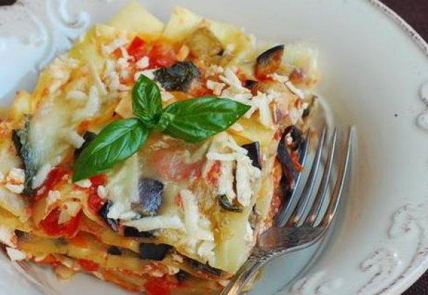 Рецепт                  Лазанья с баклажанами и помидорами
