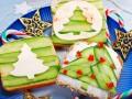 Детские новогодние бутерброды Елочка