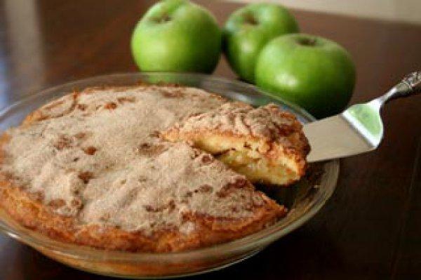 Рецепт                  Яблочный пирог с корицей к утреннему кофе