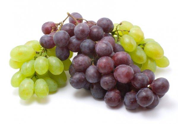 Зеленый и синий виноград одинаково калорийны