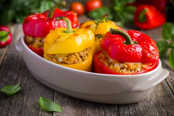 Перец с мясом и рисом