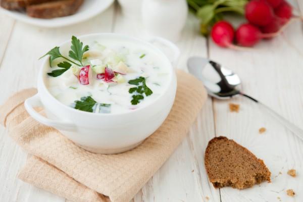 Холодный летний суп с редисом