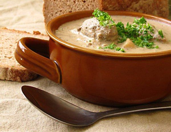 Рецепт                  Суп с печеночными галушками