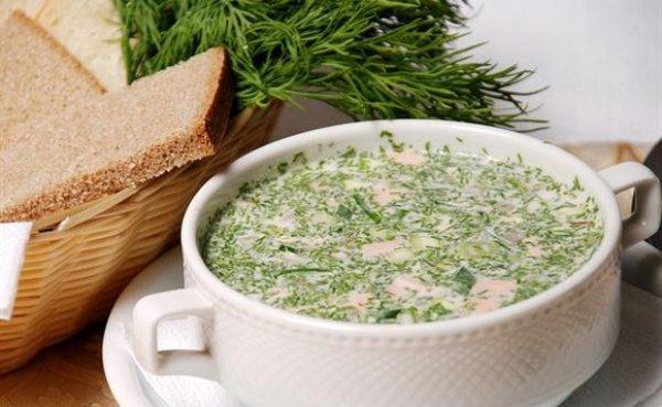 Рецепт                  Окрошка на сыворотке