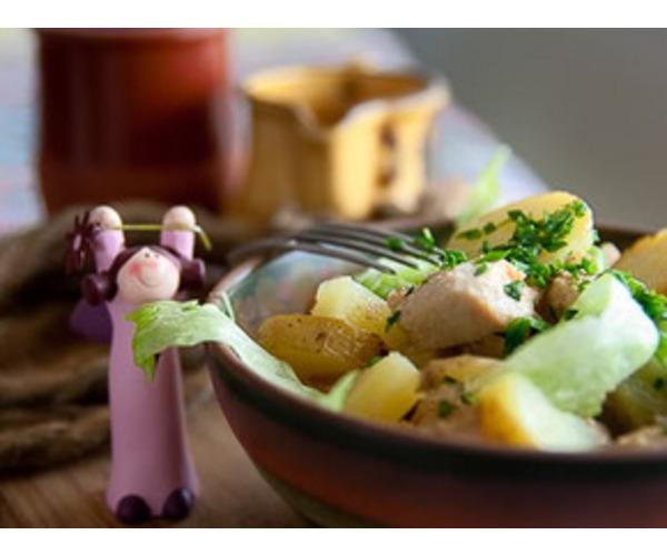 Рецепт                  Салат из курицы и картофеля