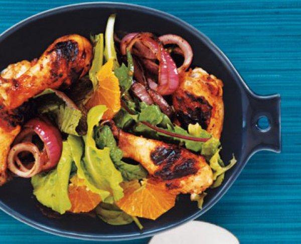 Рецепт                  Запеченная курица с апельсинами