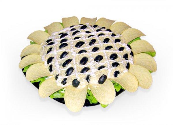 Как приготовить необычный Салат Подсолнух