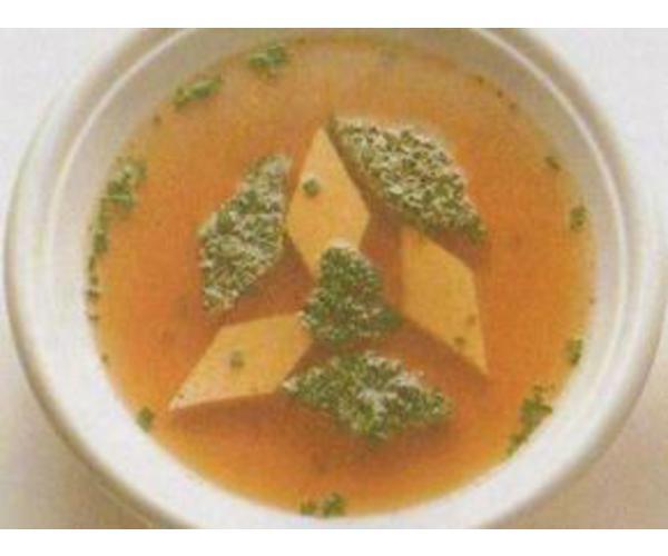 Рецепт                  Суп с яичными ромбиками