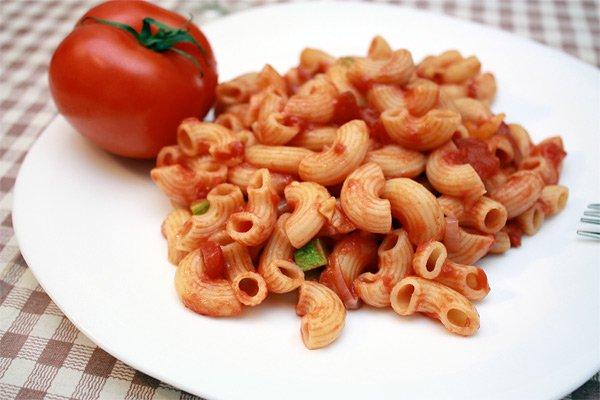 Рецепт                  Постная паста в томатном соусе