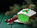 Рождественский кекс с чаем матча