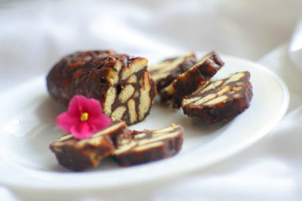 Рецепт                  Шоколадная колбаса с орехами