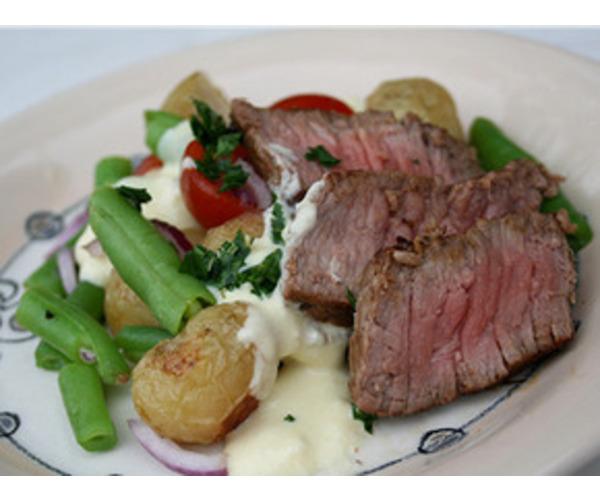 Рецепт                  Летний салат с говядиной