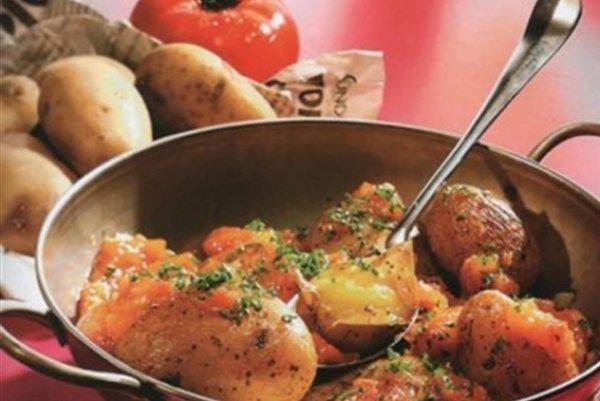 Рецепт                  Запеченный на сковороде картофель