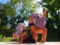 Вдохновение: Как мама вместе с дочкой занимается йогой
