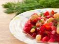 Салат из свеклы с фасолью и яблоками
