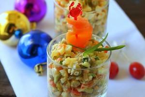 Салат Оливье - традиционное блюдо на Новый год