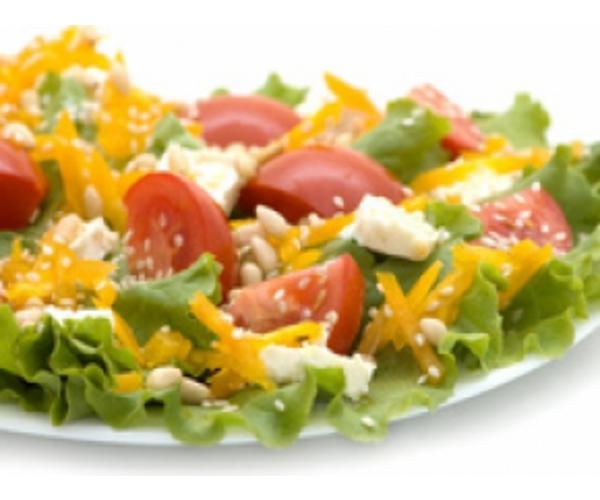 Рецепт                  Овощной салат с орешками