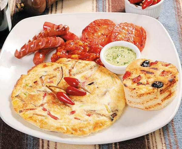 Рецепт                  Мексиканский завтрак