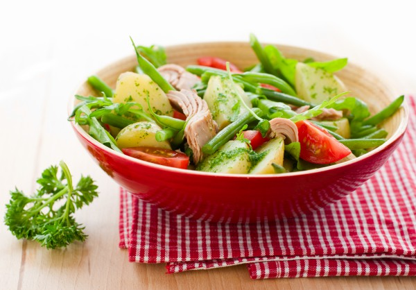 Рецепт                  Картофельный салат с тунцом и стручковой фасолью
