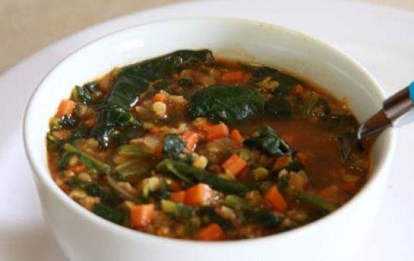 Суп из красной чечевицы с помидорами