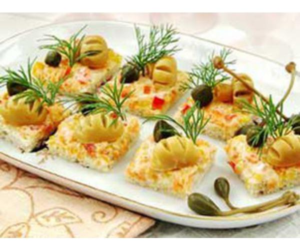 Рецепт                  Овощные канапе