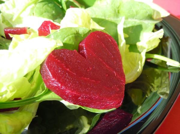 Рецепт                  Салат на День святого Валентина